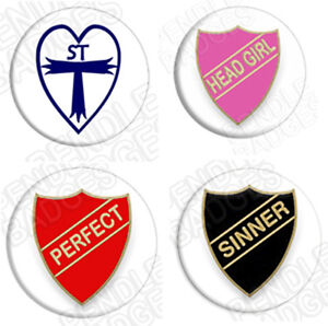 St Trinians Fancy Dress Badge Set  PERFECT - 1¾