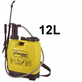 Backpack garden pressure sprayer for water weed killer