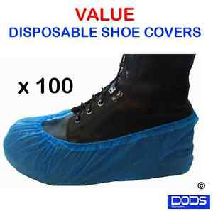 100 Disposable shoe covers overshoes carpet protection floor protectors