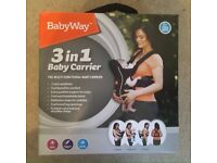 BabyWay 3 in 1 baby carrier