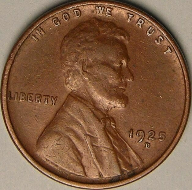 1925 D Lincoln Wheat Penny - G/VG