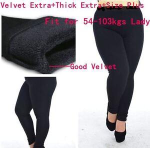 Black velours, hiver chaud épais velours leggings taille plus.
