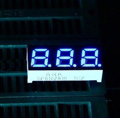 10pcs 0.28 Inch 3 Digit Led Display 7 Seg Segment Common Anode Blue New