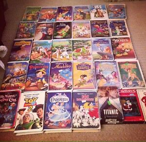 VCR with 31 VHS (mainly Disney)