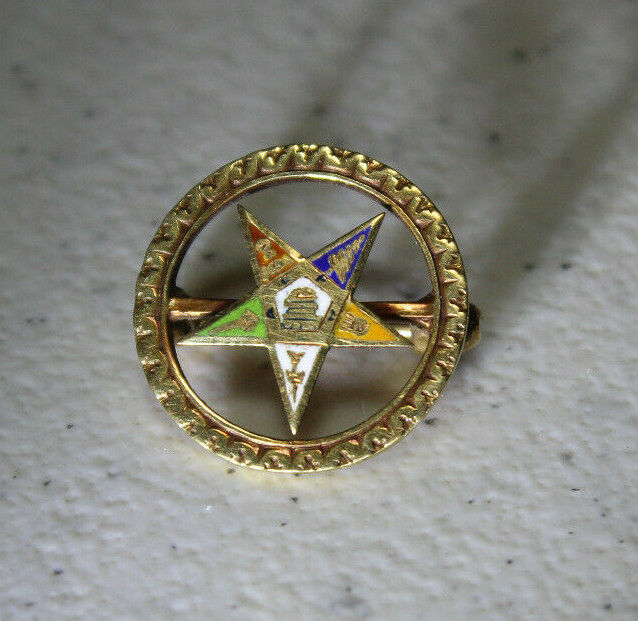 Vintage 14K Gold Pin Order of the Eastern Star OES