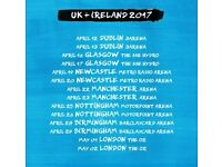 2x Ed Sheeran seated tickets, Metro Radio Arena Newcastle, Wednesday 19th April 2017