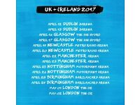 1x Ed Sheeran standing ticket, Motorpoint Arena Nottingham, Wednesday 26th April 2017