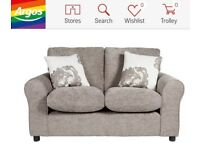 NEW HOME Tessa Compact 2 Seater Fabric Sofa - Mink