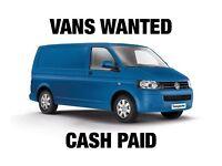 Vans Wanted