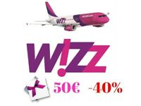 WizzAir gift card 7x50€