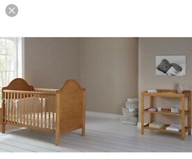 Cot and baby changing unit for sale.