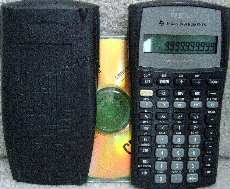 Texas Instruments Business Analyst II Plus Financial Calculator, BAII Plus
