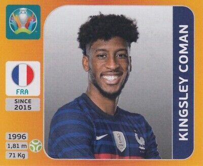 Panini Sticker Fußball EM Euro 2020 Tournament 2021 Nr. 587 Kingsley Coman Bild