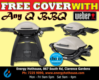 FREE Cover with Any Weber Q BBQ Purchased Clarence Gardens Mitcham Area Preview