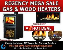 Regency Gas & Wood Heaters Mega Sale Clarence Gardens Mitcham Area Preview