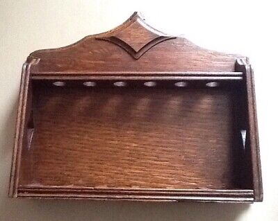 Oak Pipe Rack  for 6 Pipes