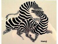 Abstract Art T-Shirt Vasarely Pre Basquiat Post Picasso Da Vinci Dali Zebras tee