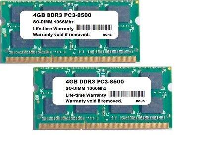 NEW 8GB Kit 2X4GB DDR3 IBM Lenovo ThinkPad X200 X201 Laptop Memory RAM ()