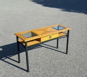 Sofa Table with Glass Top