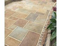 Natural indian sandstone paving slabs flags clearance