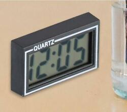 Desk Digital LCD Clock Auto Car Dashboard Mini With Date Time Calendar Bedroom