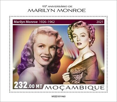 Mozambique 2021 MNH Marilyn Monroe Stamps Celebrities Film Actresses 1v S/S III
