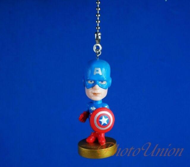 Marvel Superhero Captain America Ceiling Fan Pull Cord Light Lamp Chain  K1122 A