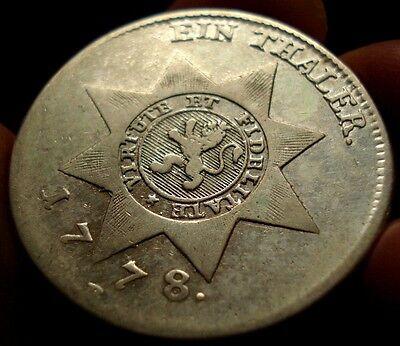 1778 Hessian Blood Dollar Coin American Revolution