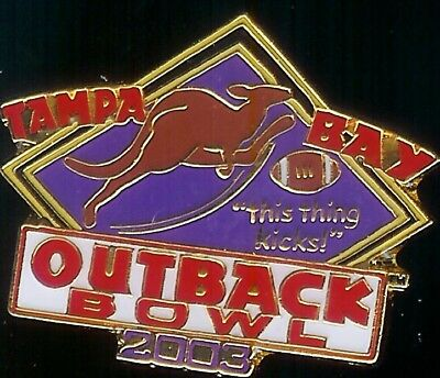 Outback Steakhouse hat lapel pin Tampa Bay 2003 This thing kicks