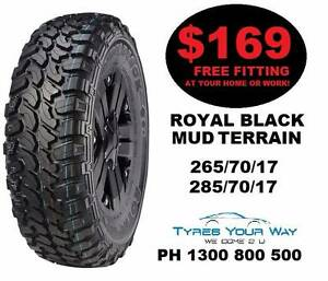 Royal Black Mud Terrain Tyres Special! Beeliar Cockburn Area Preview