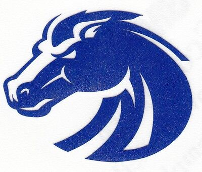 REFLECTIVE Boise State Broncos 2 inch fire helmet hard hat decal sticker - Boise State Broncos Hats