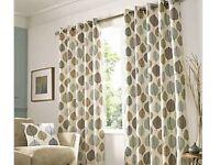 Dunelm Regan Duck Egg Eyelet Curtains and 3 matching cushions