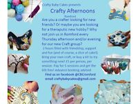 New Crafty Afternoons club in Romford every Thursday