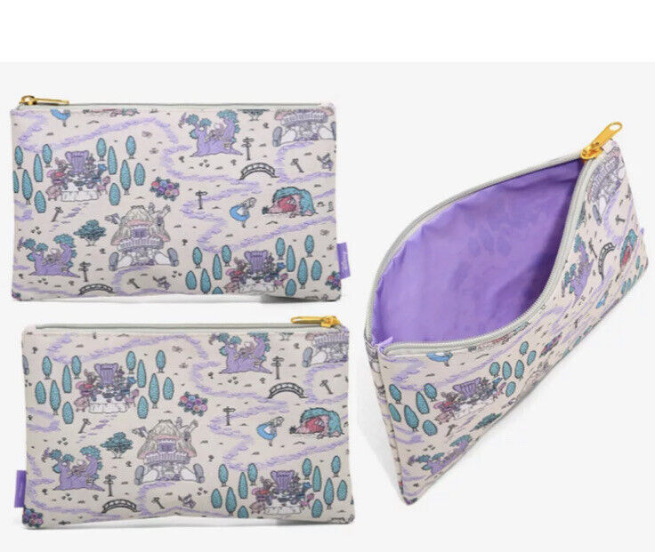 Loungefly Disney Alice In Wonderland Map Print Cosmetic Makeup Bag. NWT.