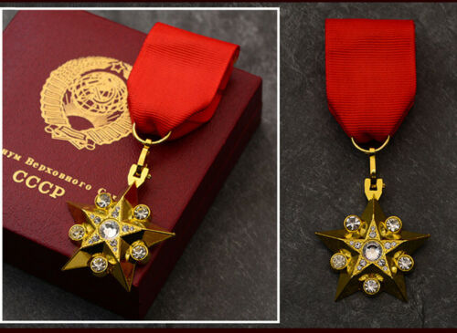 Exquisite Soviet Union Marshal Gold Five Star CCCP Medal General