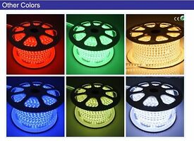 LED Strip 220V IP67 Waterproof 3528/5050 Rope Garden Decking Lights Christmas Xmas