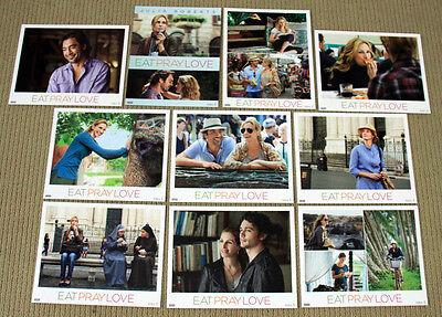 EAT PRAY LOVE original SEALED 8x10 LOBBY CARD SET Julie Roberts JAVIER BARDEM