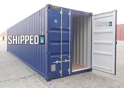40ft High Cube New One Trip Steel Shipping Container We Deliver In Portland Or