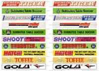 Subbuteo 2nd Different Set Of 20 Old Advertising Stickers For Fence -  - ebay.it