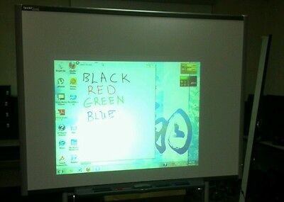 Sb680 77 Smart Board Interactive Board With 4 Pens Eraser Pen Tray And Cable.