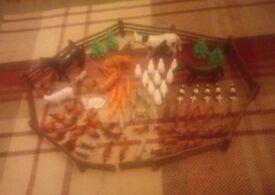 Child's plastic farm set