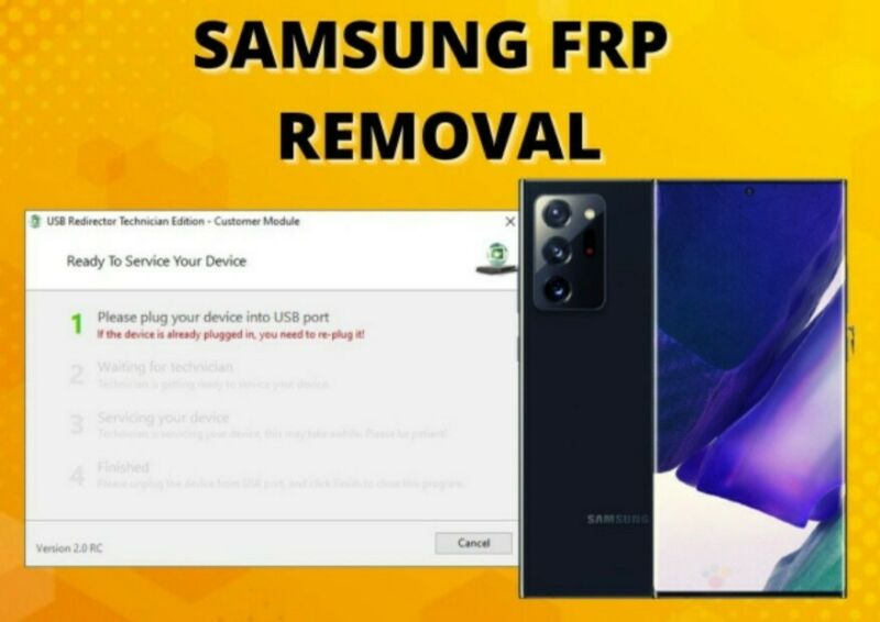 SAMSUNG FRP REMOTE REMOVAL SERVICE ALL MODELS