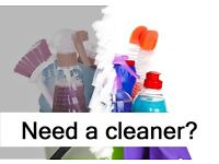 Experience cleaner looking for work in Stirling areas