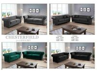 ⏳ Limited Time Offer -Brand New CHESTERFIELD SOFA IN Different Colors Available With Warranty ⏳
