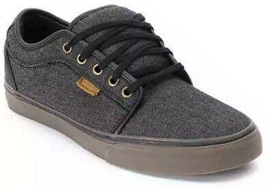 Vans Chukka Low Black Canvas & Gum Skate Shoes Size Mens