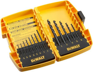 DEWALT DW1163 Black Oxide Split Point Twist Drill Bit Assortment