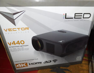 New Vector 4K 3D Android Projector, Digital Screen Home Theater