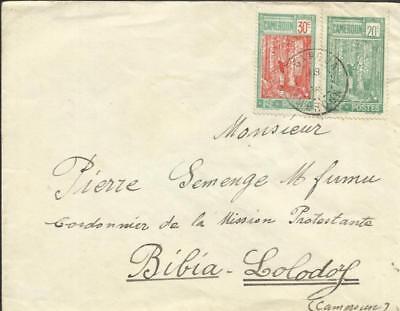 Cameroun Sc#181,#178 GAROUA 1928 to Bibia-Lolodorf