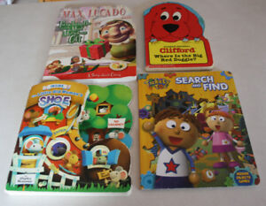 4 x Pre-School Books With Heavy Cardboard Washable Pages