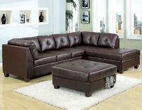 795$ **  DARK BROWN SOFA BONDED LEATHER === FREE DELIVERY